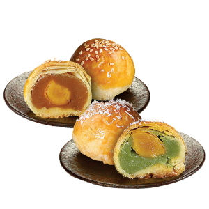 Salted Egg & Pandan Salted Egg Pastry - Box of 6 pcs (Ming Xiang Tai) - Penang