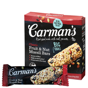 Classic Fruit & Nut Muesli Bars (Carman's) - KL