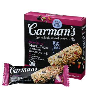 Super Berry Muesli Bars (Carman's) - KL