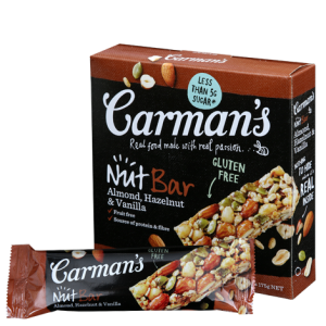 Almond, Hazelnut & Vanilla Nut Bars (Carman's) - KL