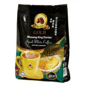 Ipoh White Coffee Musang King Durian / 猫山王怡保白咖啡 (4 in 1) (Hicomi) - Ipoh
