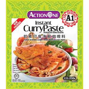A1 Instant Curry Paste Indian Seafood  Curry / 咖喱即煮酱 - Pack of 2 (Action One) - Penang